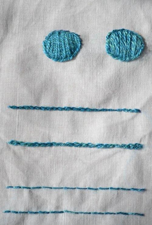 4 silk stitches big