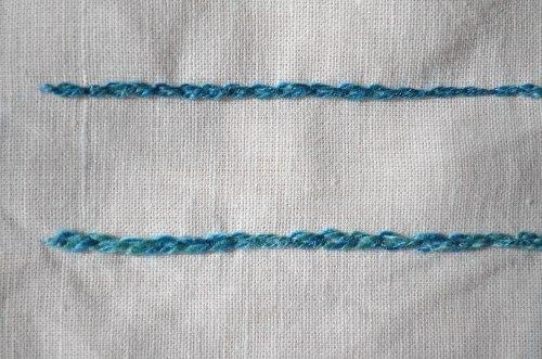 6 silk chainstitch