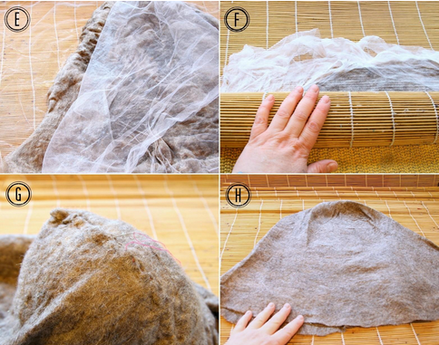 Visit the Woolery Blog for a wet felting photo tutorial!