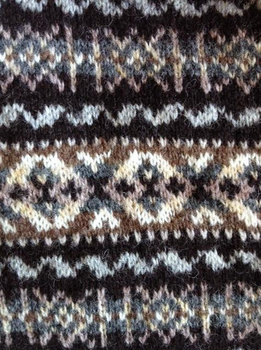 Shetland yarn in a Fair Isle sweater - learn more about breed specific yarns with Beth Brown Reinsel on the Woolery Blog!