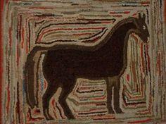 Early American Hooked Rug