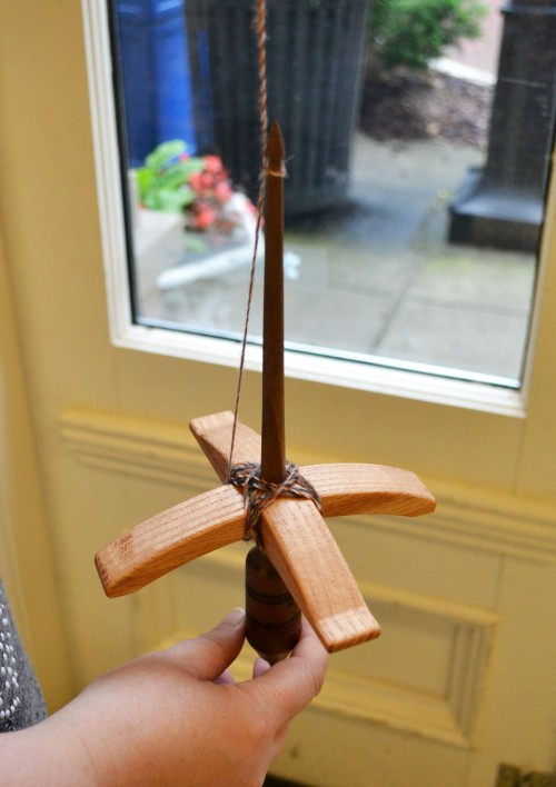How to Wind Yarn on a Turkish Spindle on the Woolery Blog