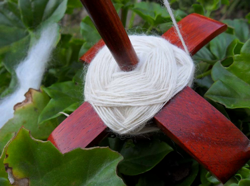How to Wind Yarn On a Turkish Spindle on the Woolery Blog (image via creative commons, click for source info).