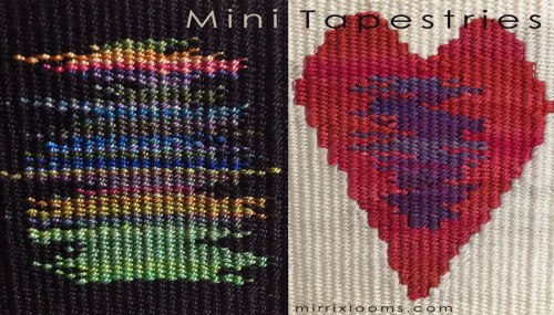 Scribble and Heart Mini-Tapestries