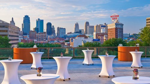 Downtown Kansas City, as seen from the Westin Crown Center. Imagine yourself spinning here!