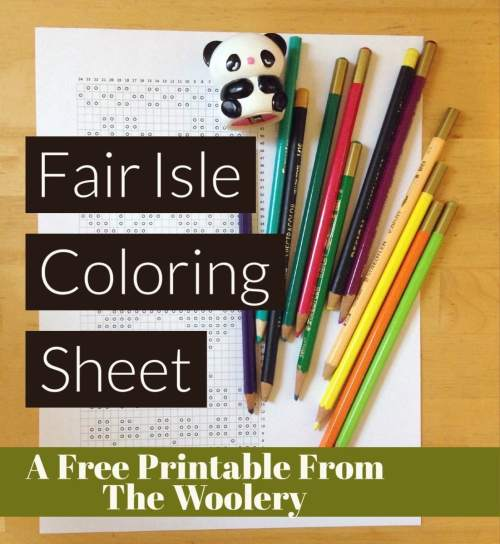 Fair Isle Coloring Sheet - A Free Printable from the Woolery