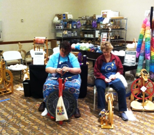Taevia spins with Joanne Strauch at Ply Away.