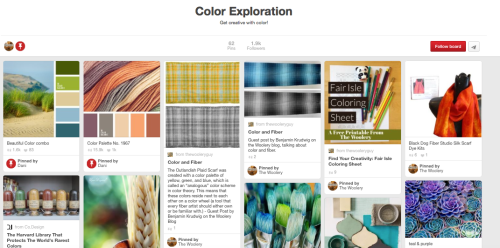 Using pinterest to get inspired. Visit the Woolery blog for more ways to plan your next weaving, spinning, or other craft project!