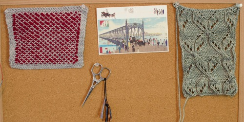 A corkboard can be used to make a real-life mood board. Visit the Woolery blog for more ways to plan your next weaving, spinning, or other craft project!