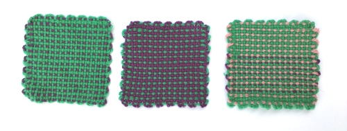 Explore color combinations & color dominance with the Schacht Zoom Loom.