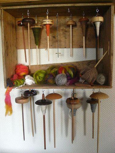 Drop Spindle Storage Idea (Via Ravelry)