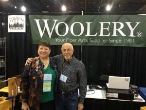 Nancy & Barry Schacht in the Woolery Booth at Convergence 2016