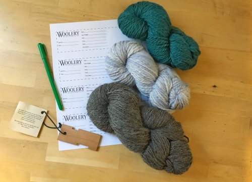 Label your handspun yarns with this free printable PDF from the Woolery!