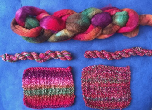 Spinning with dyed fibers - get tips from expert Jillian Moreno on the Woolery blog.