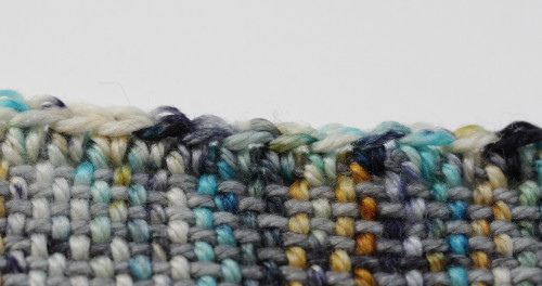 Finish wonky edges of your weaving with single crochet - find more great tips on the Woolery blog!