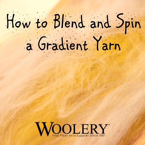 Free guide to blending spinning fiber to spin a gradient yarn.