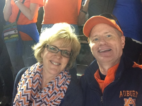 Perri & Wave McFarland rooting for the Auburn University Tigers