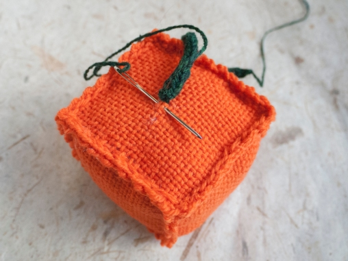 Sew your vine to your pumpkin