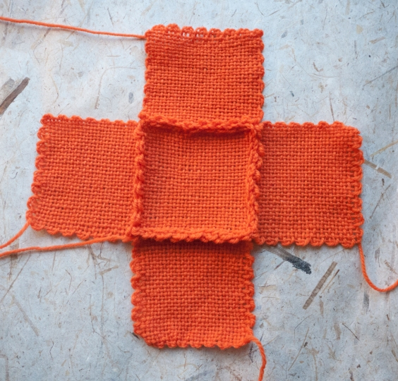 How to sew your orange squares together