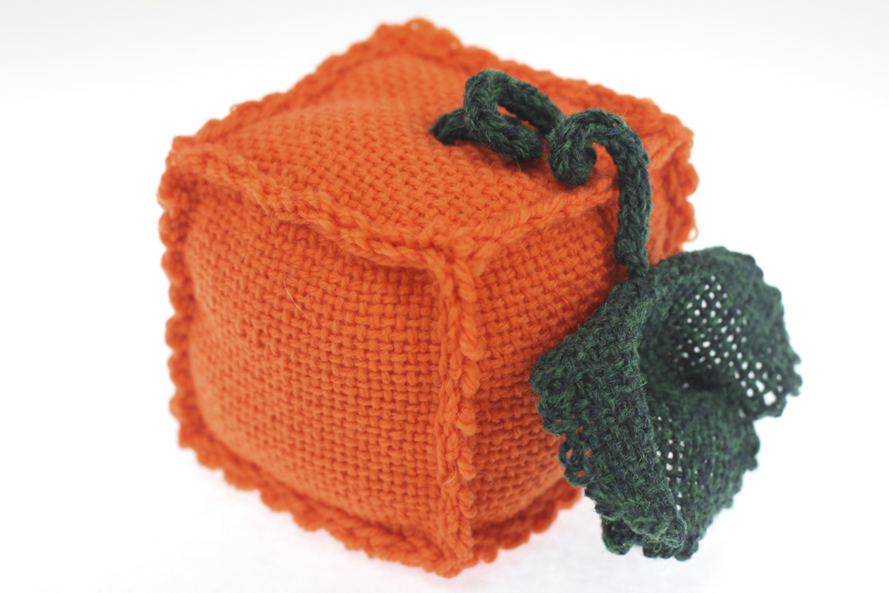 Finished pumpkin Zoom Loom Project