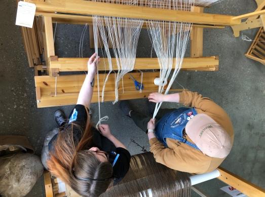 Warping the Gilmakra Standard Countermarche Loom