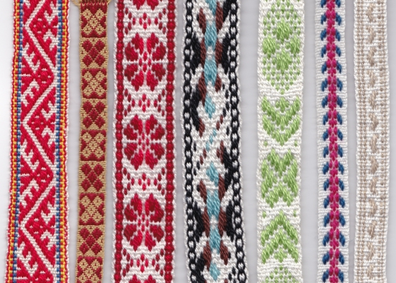 7 woven band samples