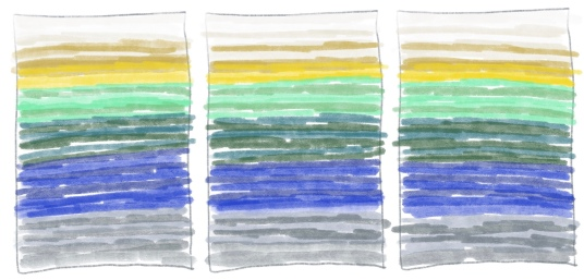Tapestry Weaving Project Gradient Sketch