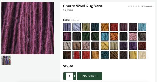 Churro Wool Rug Yarn
